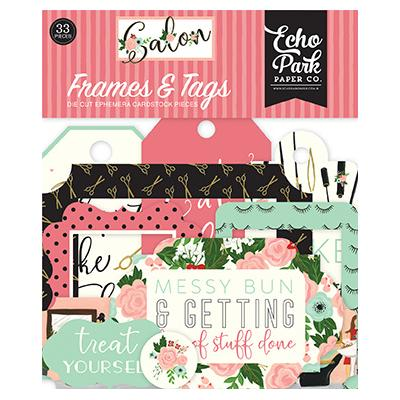 Echo Park Salon Die Cuts - Frames & Tags